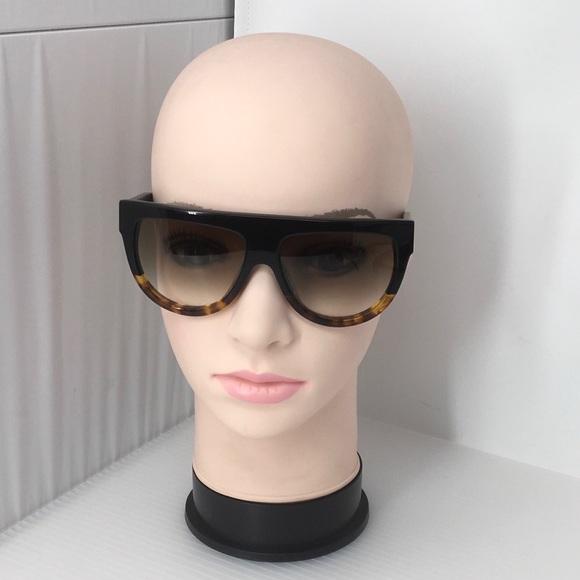 15288a1baf34b Celine Accessories - Celine Shadow Aviator Black Havana Sunglasses
